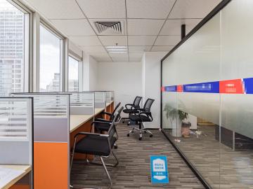 鸿昌广场 450平米 楼下地铁精装 中层商业完善